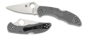 Spyderco Delica 4 Lockback Knife Gray FRN VG-10 C11FPGY Stainless Pocket Knives