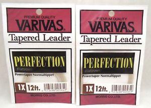 2packs Varivas Morris Co. Ltd Fly Trout Fishing Tapered Leader Tippet 1X 12ft