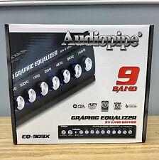 Audiopipe EQ909X 9-Band Graphic In-Dash Line Driver Equalizer Aux RCA input NEW