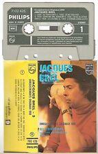 JACQUES BREL cassette K7 tape vol 3 ENREGISTREMENTS ORIGINAUX 1958