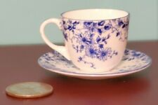 SHELLEY MINIATURE DAINTY BLUE  TEACUP AND SAUCER ANTIQUE Westminster TEA CUP