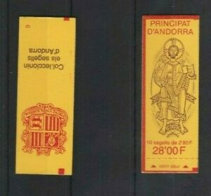 Andorra Coat of Arms sealed 28F Booklet MNH per scan