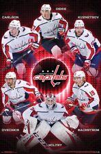 Washington Capitals SUPERSTARS POSTER - Ovechkin Oshie Carlson Holtby Kuznetsov