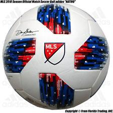 "Mls 2018 Season Official Match Soccer Ball adidas ""Nativo""(5)Whit e AtlantaUnited"