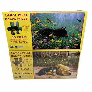 Sleepy Days 15 Pc Who Are You 35 Pc Jigsaw Puzzles Lot of 2 New