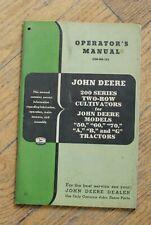 John Deere Operator's Manual- 200 Series Two Row Cultivators-Om-N8-755
