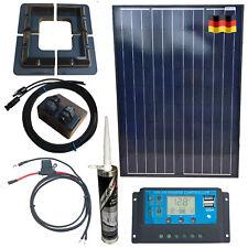 100w Solar Kit - Mono Panel Mounts Gland USB Sikaflex 512 German Cells