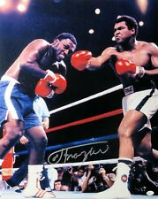 Joe Frazier Signed Autographed 16X20 Photo Punched by Muhammad Ali JSA