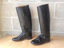 Service Riding Apparel Women's Boots Sz 6.5 Leather Black Yonkers Ny Usa Made