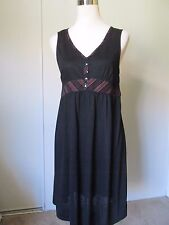 Axcess by Liz Clairborne Black V-Neck Sleeveless Summer Casual Dress NWOT SZ: M