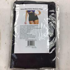 Pure Acoustics Women Apparel Extra Wide Detox Stomach Wrap -Black-Size L-XL
