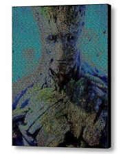 Guardians of the Galaxy I a GROOT Quotes Mosaic Framed 9X11 Limited Edition