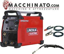 ✔️Saldatrice inverter multifunzione Lincoln Electric Speedtec 200C +torcia e cav