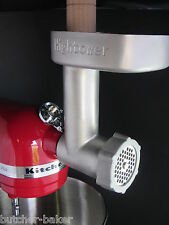Stainless Steel Meat Grinder for KitchenAid Hobart Mixer CULINARY SCHOOL VERSION