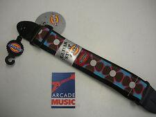 Dickies guitar strap in Capri fira flower pattern.