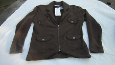 Green House Danish ladies sweat cardigan  Jacket brown L BNWT