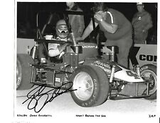 USAC Midget Car Auto Racing Photograph Autographed by the late John Andretti