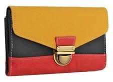 Womens Faux Leather Multi Color Wedding Party Evening Handbag Purse Clutch Bag