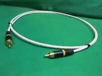 3 FT SILVER PLATED AUDIOPHILE INTERCONNECT S/PDIF RCA DIGITAL CABLE.