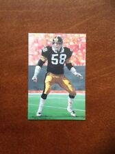 Jack Lambert Steelers unsigned Goal Line Art Card in Toploader