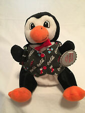 New Coca-Cola Penguin In Holiday Vest, 5-1/2 Inches tall, Style #0172 ,Bean Bag