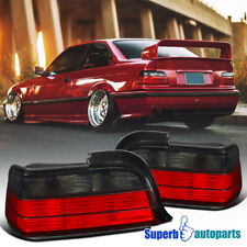 For 1992-1998 BMW E36 3-Series 2Dr Red Smoke Tail Lights Rear Brake Lamps