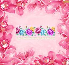 French Blumen -12 Wraps Nail Art Tattoo Sticker Decal Fingernägel Aufkleber