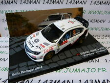 auto 1/43 IXO Altaya rallye : SUBARU Impreza WRC Portugal 2010 Coca cola #12