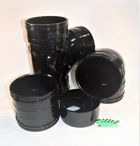 110 mm Solvent Weld WASTE Pipe FITTINGS and PIPE, BLACK, for 110 mm OD pipe