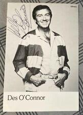 Des O'connor Signed Photo