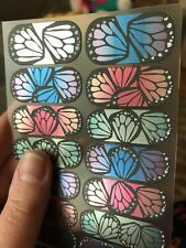 Jamberry-Butterfly Bliss Nail Wraps - Retired Rare Hard to Find- Full sheet