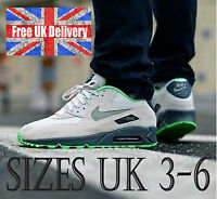 Nike AIR MAX 90 ESSENTIAL Trainers in Light Bone and Poison UK 3-6 / UK SELLER