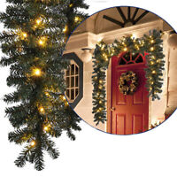 Christmas Garland 9FT Rattan Weath Tree Hanging Fireplace Hanging Home Decor DIY