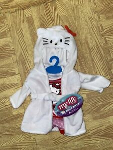 """MY LIFE AS HELLO KITTY Pink & Red Pajamas & Robe FOR 18"""" DOLL New"""