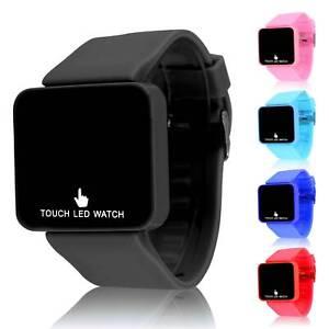 LED Touch Digital Screen Wrist Watch For Men Women School Boys Girls Kids UK