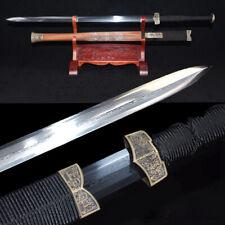 HanJian Campsis Sword Refining Pattern Steel Blade Sharp Battle ready 靈虛漢劍#1368