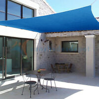 Sun Shade Sail 8x12 FT Knitted Outdoor Garden Canopy Patio Pool Awning Top Cover