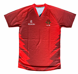 Lancashire County Cricket Top Mens Kukri ODI Cricket Training Top - Red - New
