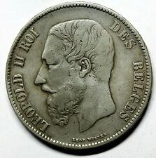 BELGIQUE  pièce en argent de 5 Francs Léopold II 1870