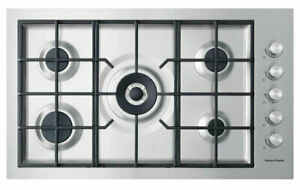 FISHER & PAYKEL 90CM STAINLESS STEEL GAS COOKTOP - CG905DWNGFCX3 EX DISPLAY*