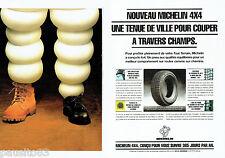 PUBLICITE ADVERTISING 056  1994   les pneus Michelin 4x4  (2p)
