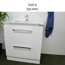 Bathroom Vanity Cabinet Unit 750 MM  Natural Marble Ceramic Basin Freestanding