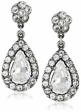 Ben-amun By Isaac Manevitz Silver Crystal Teardrop Earrings Made In Usa Nwt Engagement & Wedding Jewelry & Watches