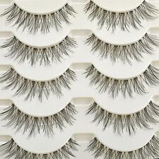 Newly Makeup Handmade Natural Fashion Long False Eyelashes Eye Lashes 5 Pairs