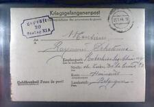 Camp Stalag XIA Altengrabow 1944 POW Prisoner Belgium Kriegsgefangenenpost L30a