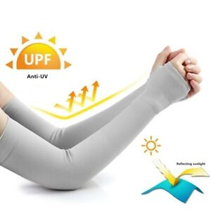 Compression Arm Sleeve Ice Fabric Mangas Warmers UV Protection Unisex Running