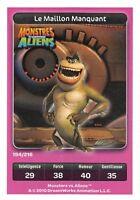 Karte Carrefour Dreamworks - Monstres gegen Aliens -der Glied fehlt Nr.194
