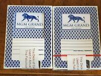 2 Decks MGM Grand Casino Las Vegas Playing Cards.