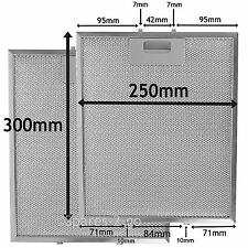 2 x Silver Cooker Hood Grease Filter Metal Mesh Filters 300 x 250 mm