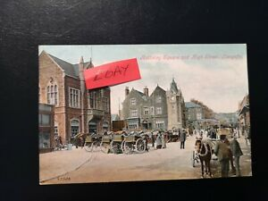 VINTAGE POSTCARD ANGLESEY - BULKELEY SQUARE, LLANGEFNI -  EARLY 1900's.
